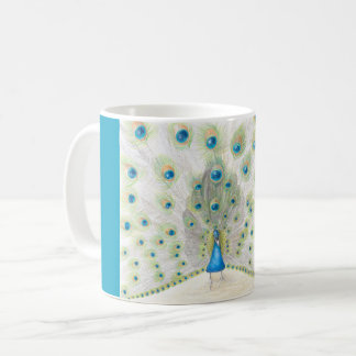 Peacock on a coffee mug