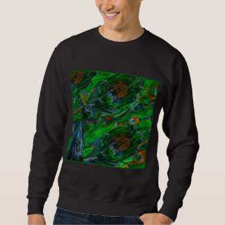 Peacock. On Black Sweatshirt