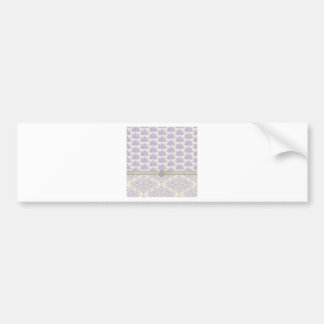 Peacock on Damask and Peacock Print, Lavender Bumper Sticker