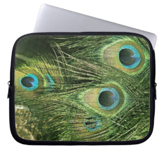 """Peacock/Peafowl Feathers 10""""Laptop Sleeve"""