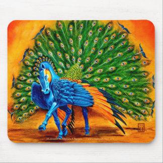 Peacock Pegasus Mouse Pads