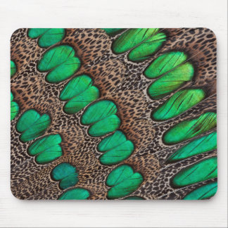 Peacock Pheasant Feather Abstract Mouse Mat