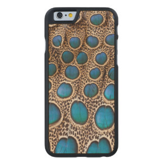 Peacock-pheasant feather design carved® maple iPhone 6 slim case