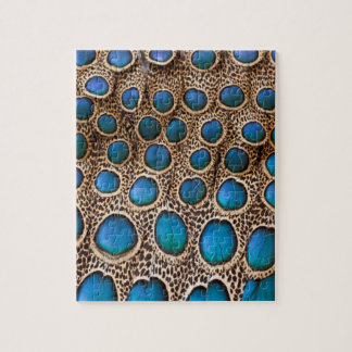 Peacock-pheasant feather design jigsaw puzzle