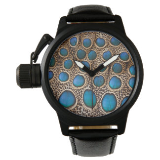 Peacock-pheasant feather design watch