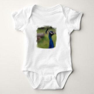 Peacock photo Baby Jersey Bodysuit, White Baby Bodysuit