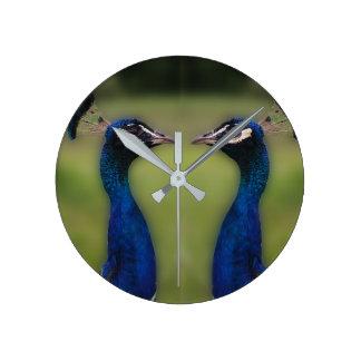 Peacock Photo Round (Medium) Wall Clock