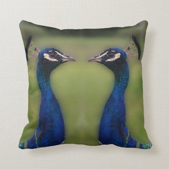 Peacock Photo Throw Cushion 41 cm x 41