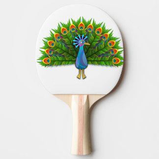 peacock ping pong paddle