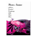 PEACOCK pink black white Business Card Templates