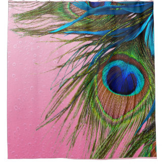 Peacock Pink Shower Curtain