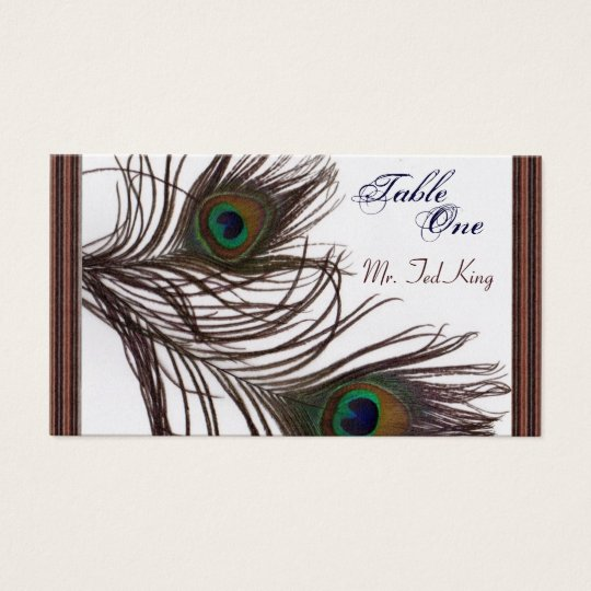 Peacock Placecards Business Card