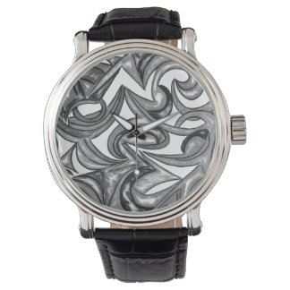 Peacock Plumage - Abstract Art Hand Painted Watch