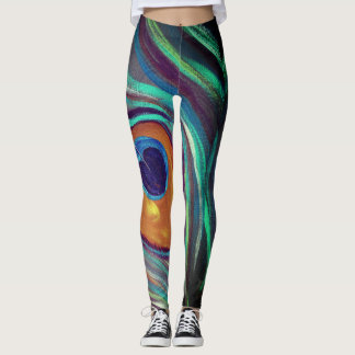 Peacock Plume Leggings