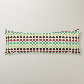 Peacock Polka Dot Pattern Body Cushion