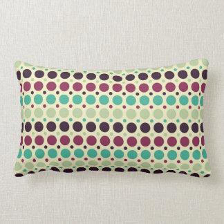 Peacock Polka Dot Pattern Lumbar Cushion