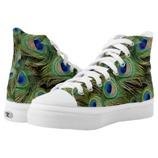 Peacock Print Pattern Shoes