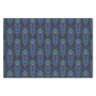 peacock print tissue paper gift wrapping