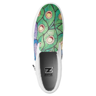 Peacock Printed Shoes