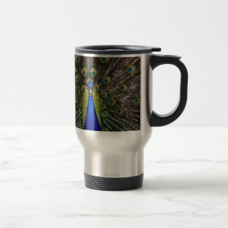 Peacock Royal Blue Gifts Presents Beautiful Travel Mug