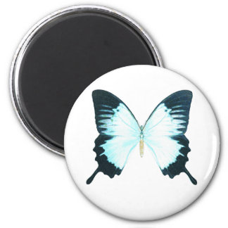 Peacock Royal Butterfly 6 Cm Round Magnet