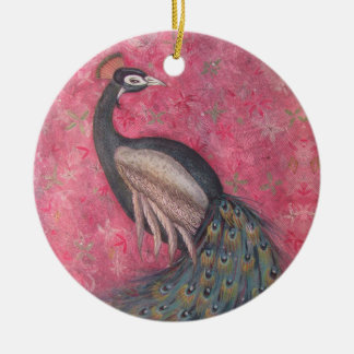 Peacock Royalty Christmas Ornament
