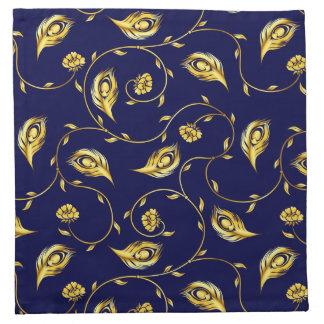 Peacock Sari Pattern Napkin