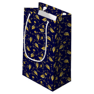 Peacock Sari Pattern Small Gift Bag