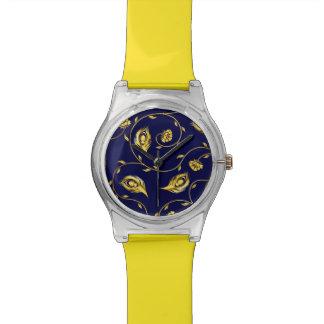 Peacock Sari Pattern Watch