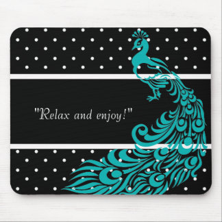 PEACOCK-SELF-EXPRESSION-TEMPLATE MOUSE MAT