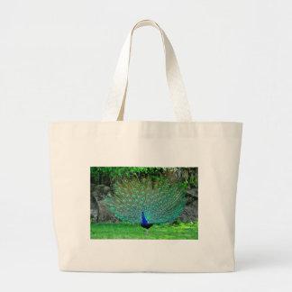 Peacock Slight Jumbo Tote Bag
