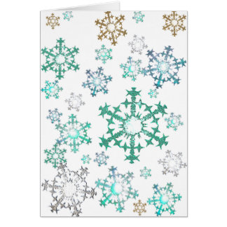 Peacock Snowflakes Card