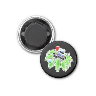 Peacock spider 3 cm round magnet
