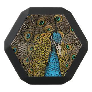 Peacock Splendor Illustration Black Bluetooth Speaker