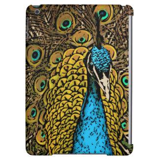 Peacock Splendor Illustration Case For iPad Air