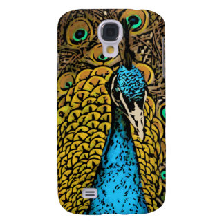 Peacock Splendor Illustration Galaxy S4 Case