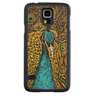 Peacock Splendor Illustration Maple Galaxy S5 Slim Case