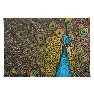 Peacock Splendor Illustration Placemat