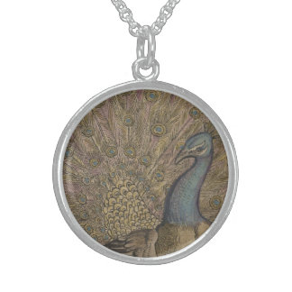 Peacock Sterling Silver Necklace