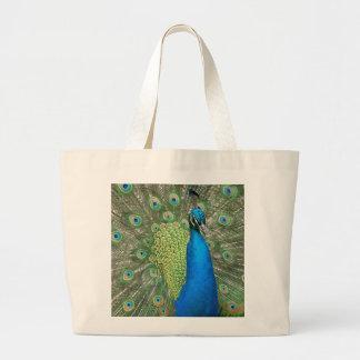 Peacock Strut Jumbo Tote Bag