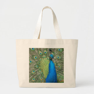 Peacock Strut Large Tote Bag