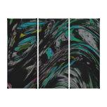 Peacock Swirl Canvas Prints