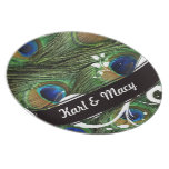 Peacock Swirl Party Plates