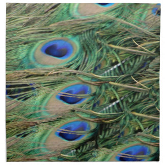 Peacock Tail Feather Blue Eyes With Growth Napkin