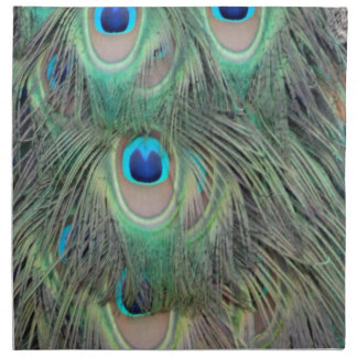 Peacock Tail Feather Large Eyes Napkin