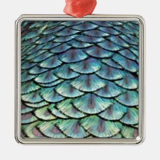 Peacock Tail Feathers Christmas Ornament