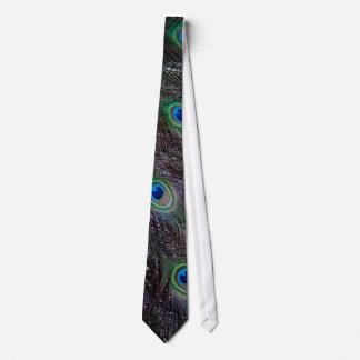 Peacock tail tie
