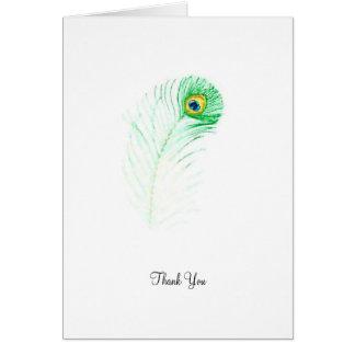 Peacock - Thank You Card