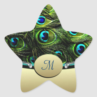 Peacock  Theme Wedding Envelope Seals Star Sticker