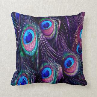 Peacock Throw Pillow Cushion